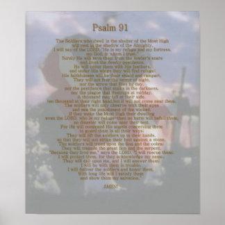 Salmo 91 do refúgio de um soldado poster
