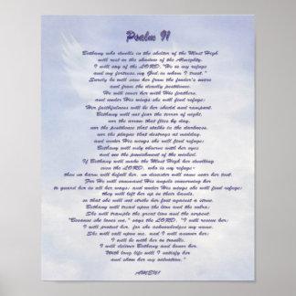 Salmo 91 NIV do refúgio de Bethany Poster