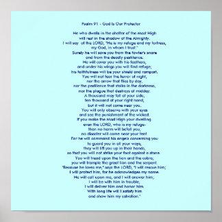 Salmo 91 - O deus é nosso protetor Poster