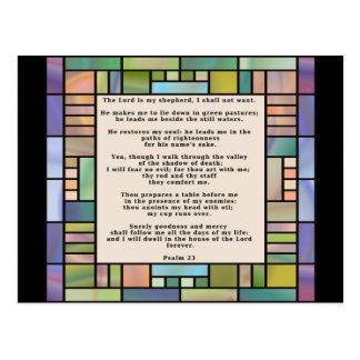 Salmo cartão de 23 vitrais