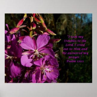 Salmo do 120:1 do salmo do poster da flor do incen pôster