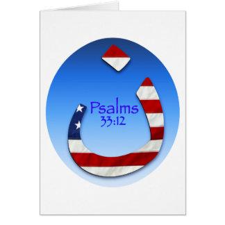 Salmo do Nazarene Cartão Comemorativo