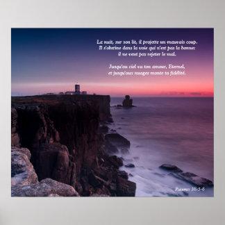 Salmo roxo 36 da rocha do poster (língua francesa) pôster