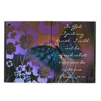 Salmo roxo do verso da borboleta e da bíblia das