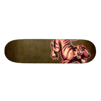 Salmões Brown dos desenhos animados da pintura do Shape De Skate 18,4cm
