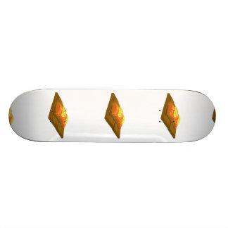 Salmões da prancha do cedro da comida do pulso shape de skate 18,1cm