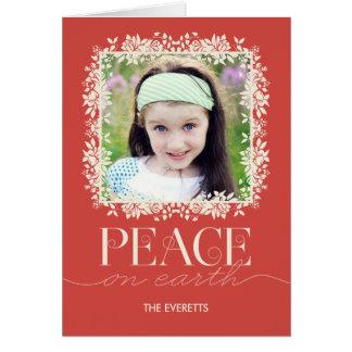 Salmões florais calmos do cartão da foto do