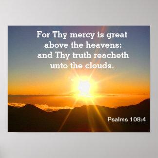 Salmos - escritura pôster