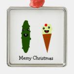 Salmouras e Feliz Natal do sorvete Ornamento Para Arvores De Natal