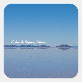 Salt Lake em Salar de Uyuni, Bolívia Adesivo Quadrado