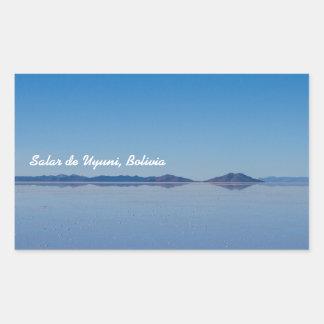 Salt Lake em Salar de Uyuni, Bolívia Adesivo Retangular