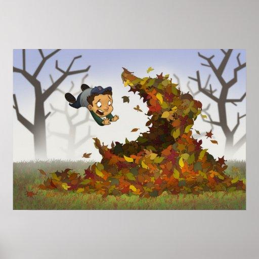 """""""Saltando poster nas folhas"""""""