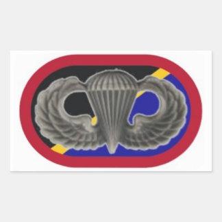 Salte as asas em etiquetas do Oval de Cmd da Adesivo Retangular