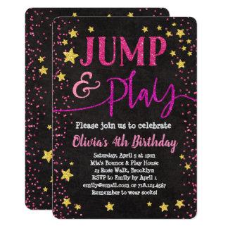 Salte & jogue a festa em casa do salto do convite