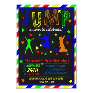 Salte o convite de aniversário para um menino