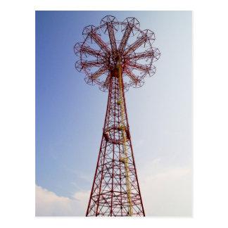 Salto de pára-quedas - Coney Island, cartão de NYC