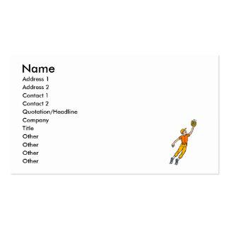 Salto do basebol para o menino da captura cartão de visita