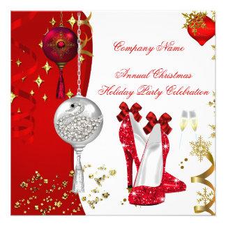 Saltos de Champagne da festa de Natal do feriado Convites Personalizados