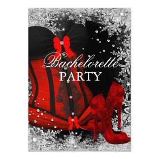 Saltos do floco de neve & festa de solteira do convite 12.7 x 17.78cm