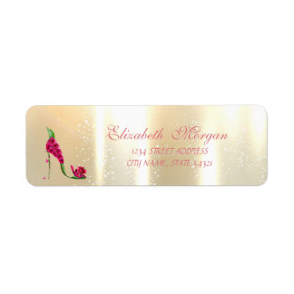 Saltos glamoroso, florais elegantes, etiqueta de