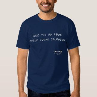 Salvação asiático camisetas