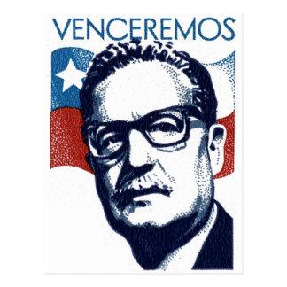 Salvador Allende - Venceremos Cartão Postal