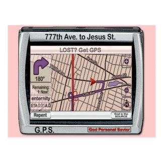 Salvador pessoal do deus de GPS Cartoes Postais