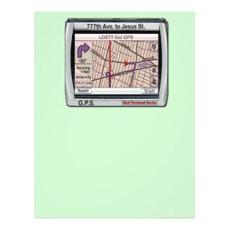 Salvador pessoal do deus de GPS Panfleto Personalizados