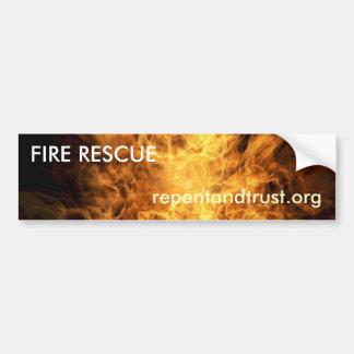 Salvamento do fogo - autocolante no vidro traseiro adesivo