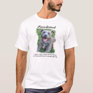 Salvamento entendido mal do pitbull camiseta