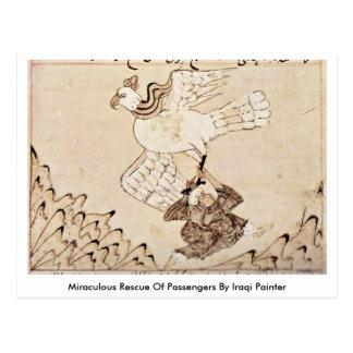 Salvamento miraculoso dos passageiros pelo pintor  cartao postal
