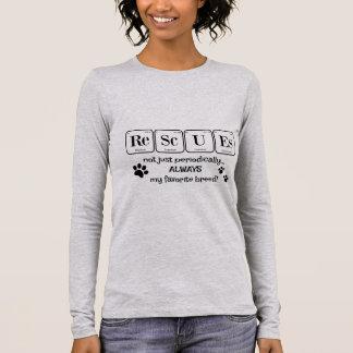 SALVAMENTOS, minha raça favorita (mesa periódica) Camiseta Manga Longa