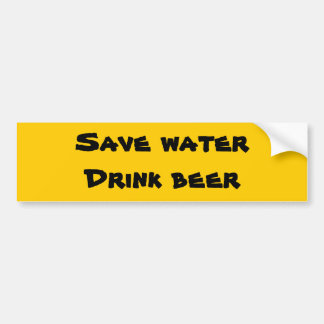 Salvar a água - cerveja da bebida adesivo para carro