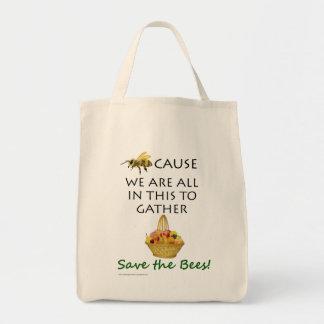 Salvar a bolsa de compra das abelhas junto