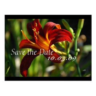 Salvar a chama de agosto da data cartão postal