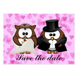 salvar a coruja da data modelo cartões de visita