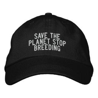 salvar a criação de animais da parada do planeta boné bordado