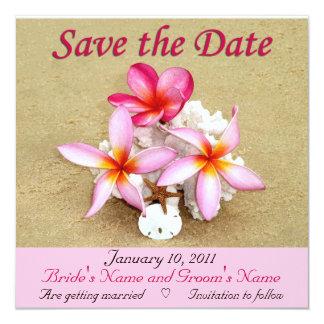 Salvar a data - casamento de praia tropical convite personalizados