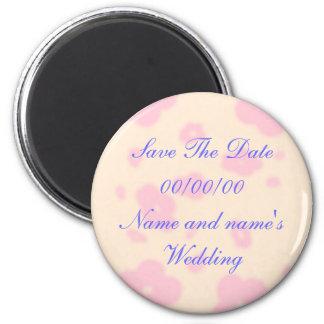 Salvar a data, casamento, ímãs ímã redondo 5.08cm