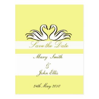 Salvar a data com cartão das cisnes