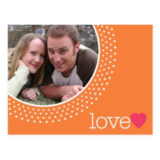 Salvar a data com foto cartão postal