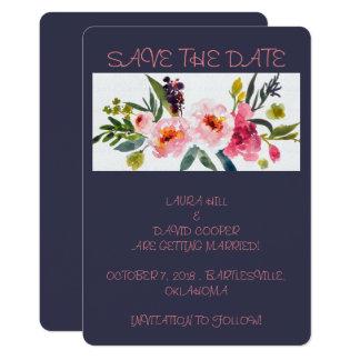 Salvar a data convite 12.7 x 17.78cm