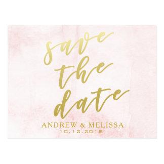 Salvar a data | coram & cartão do roteiro do ouro