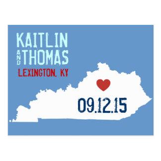 Salvar a data - customizável - Kentucky Cartão Postal