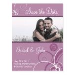 Salvar a data em um quadro do redemoinho de cartão postal