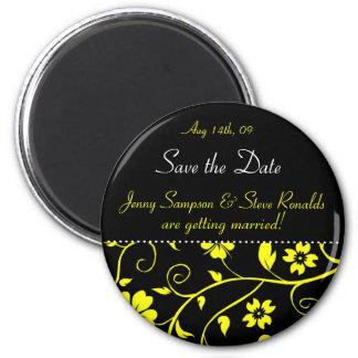 Salvar a data - ímã do casamento ímã redondo 5.08cm