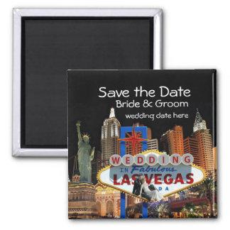 Salvar a data Las Vegas que Wedding o ímã Ímã Quadrado
