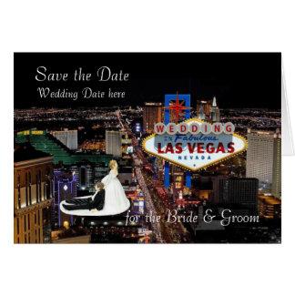 Salvar a data para o casamento da noiva & do noivo cartão comemorativo