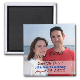 Salvar a data! Para Wedding ou? Ímãs da foto Ímã Quadrado