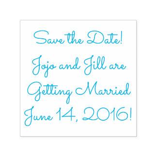 Salvar a data sua data conhecida (do casamento) carimbo auto entintado
